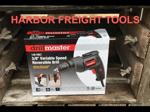 Harbor Freight Drill Master Review Item# 60614