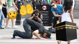 MUSLIM PRAY IN PUBLIC!—SOCIAL EXPERIMENT