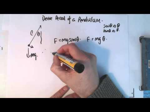 10 SHM derive period formula pendulum