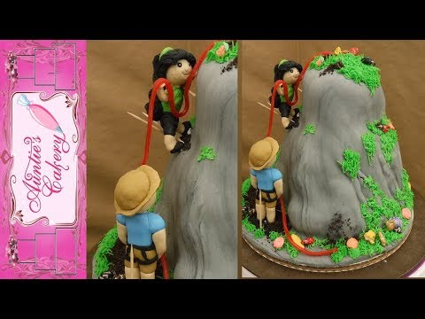 Rappelling/Mountain Climbing Cake Decorating Tutorial