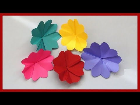 How to Make Simple Paper Flowers | Easy Paper Crafts for Kids