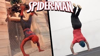Stunts From Spiderman In Real Life (Marvel, Movie, Parkour)