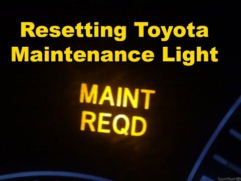 Toyota Maintenance Light Reset
