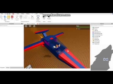 How to make Airplane in Roblox