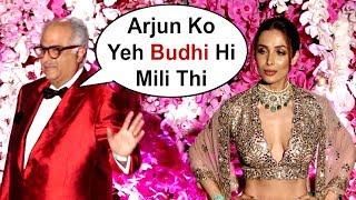 Boney Kapoor Ignores Arjun Kapoor Girlfriend Malaika Arora Khan At Akash Ambani Wedding Party