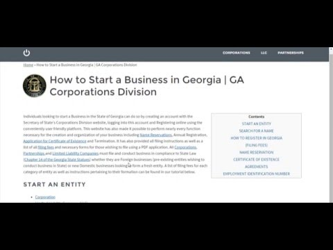 How to Start a Business in Georgia | GA Corporations Division
