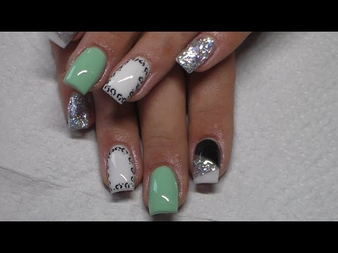 Acrylic Nails | Mint Green | Sculpted Nails