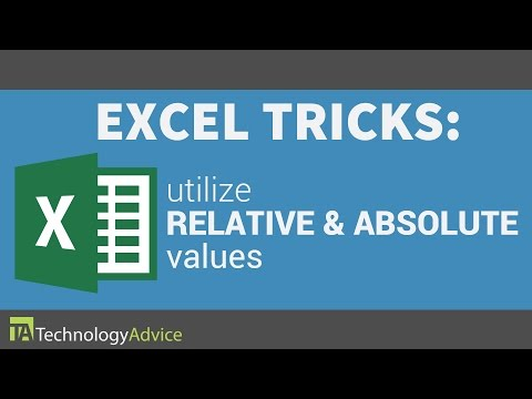 Excel Tricks - Learn How to Utilize Relative & Absolute Values