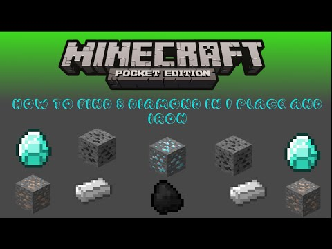 the easiest way to find diamond in minecraft pe