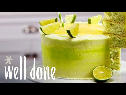 How To Make Margarita Cake With Tequila Syrup And Lime Cream Cheese Frosting | Recipe | Well Done