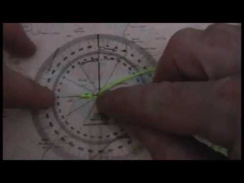 Map grid bearing Protractor