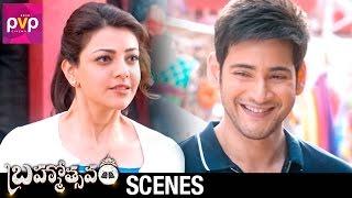 Mahesh Babu Challenges Kajal Aggarwal   Brahmotsavam Telugu Movie Scenes   Samantha   Pranitha