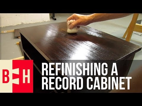 Refinishing a Record Cabinet