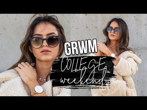 College Weekend Get Ready with Me: Hair, Makeup, and Outfit | Natalie Barbu