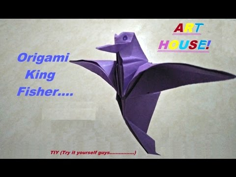 How to make Origami King Fisher (TIY)