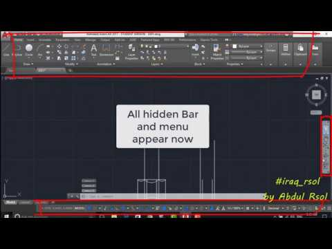 Solve disappear toolbars AutoCAD ,autocad disappearing cursor