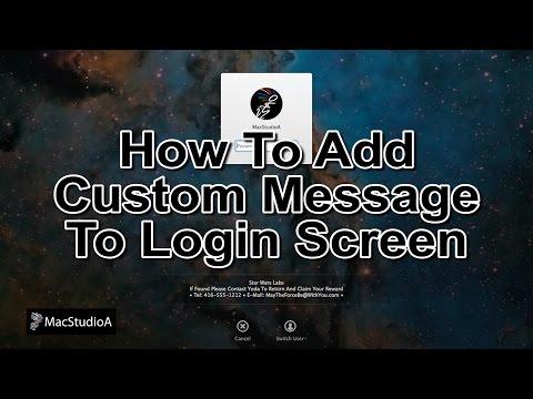 Add a Custom Message on Mac OS X Login Screen