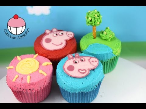 Make Peppa Pig Cupcakes for Kids! A Cupcake Addiction How To Tutorial
