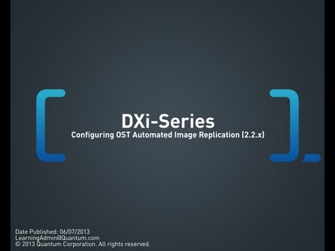DXi-Series: Configuring OST Automated Image Replication (2.2.x and 2.3)
