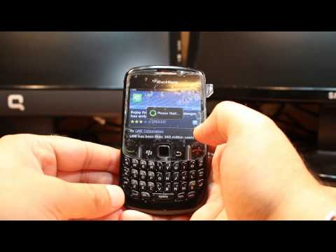 Line messenger install to Blackberry Curve 8520