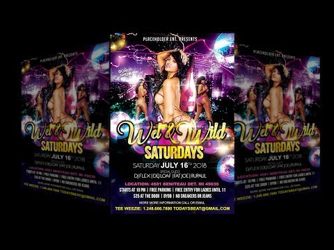How to make PSD flyers on Adobe Photoshop CC Party Event Club Graphic Design 2