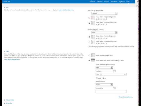 SharePoint YouTube List App  - Create New View