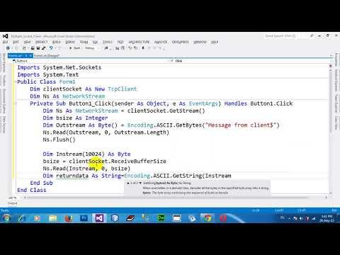 Multiple Threaded Client Socket in VB NET 2012 Part2End