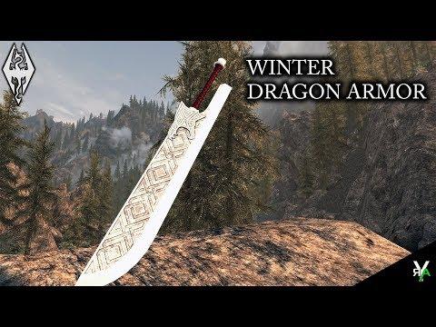 WINTER DRAGON ARMOR: Weapon and Armor Mod!!- Xbox Modded Skyrim Mod Showcase