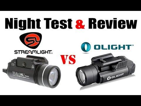 Olight PL-2 Valkyrie VS Streamlight TLR-HL Night Shots