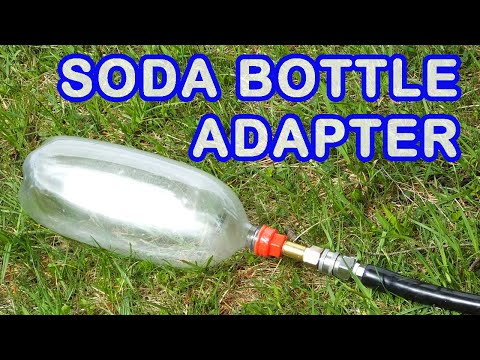 3D Printed Soda Bottle Thread Adapters for Air Tank Making and Water Rockets
