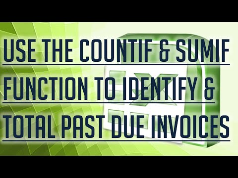 [Free Excel Tutorial]  USE THE COUNTIF AND SUMIF FUNCTION IN EXCEL FOR INVOICES - Full HD