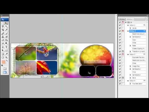 Automatic photo book album design in Photoshop cs3 Hindi tutorials