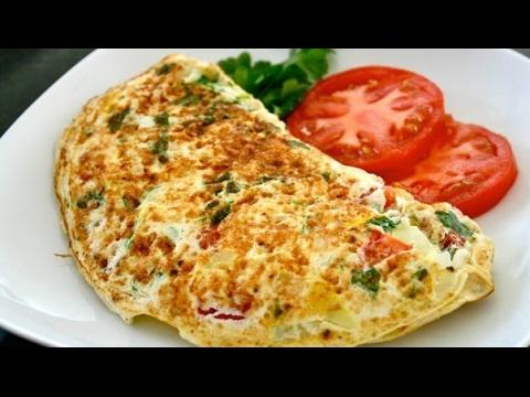 Vegetable egg omelette || garlic egg omelette || Best Omelette Recipe
