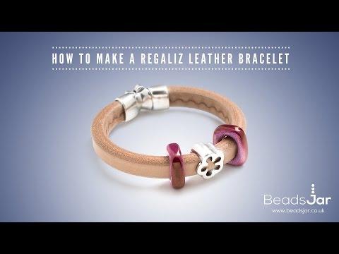 How to make a Regaliz leather bracelet
