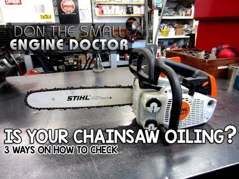 3 Easy Ways To Check If Your Chainsaw Is Oiling The Bar & Chain