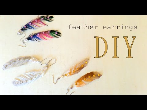 How to Make Feather Earrings- Three Design Ideas | by Fluffy Hedgehog