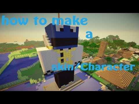 minecraft how to make a skin/Character statue