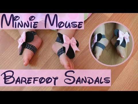 How to Make Adorable Minnie Mouse Barefoot Sandals|Disney Inspired
