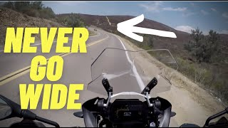 My Goal is to NEVER Go Wide | Motorcycle Cornering Tips |