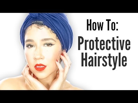 How To: Protect Natural Hair   Hair Turban   SLAP Cap   #naturalhairtips