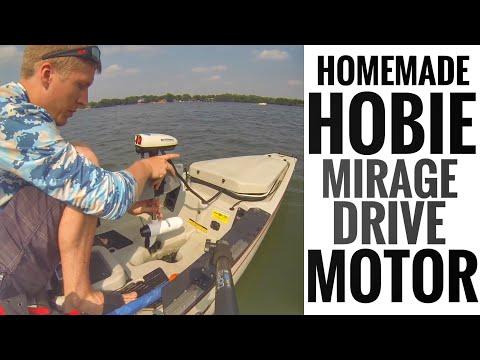 Homemade Trolling Motor for Hobie Mirage Drive Kayak