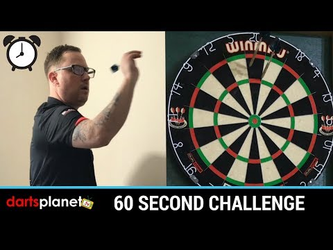 60 SECOND DARTS CHALLENGE - ( SORRY ABOUT MISCOUNT )