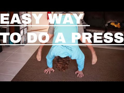 How To Do A Press Handstand For Beginners At Home