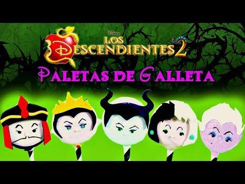 PALETAS DE GALLETAS PADRES MALVADOS LOS DESCENDIENTES 2