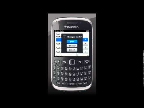 How To Change The Font On Blackberry OS 7.1