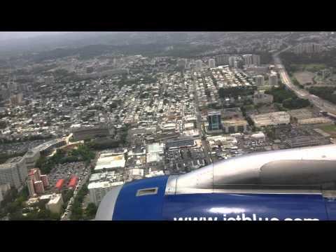 Jetblue Airbus A320 landing in San Juan, PR