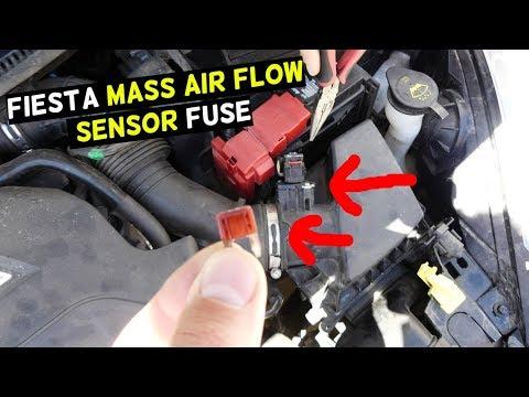 FORD FIESTA MASS AIR FLOW SENSOR FUSE LOCATION MK7 ST
