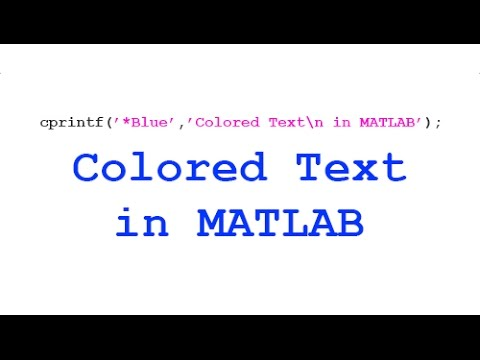 [QuickTip] Print Colored Text in MATLAB