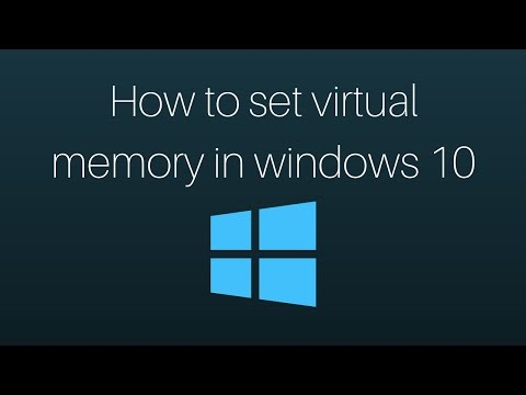 How to set virtual memory in Windows 10