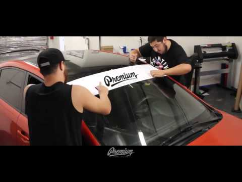 How to Install Car Windshield Banner - Vinyl